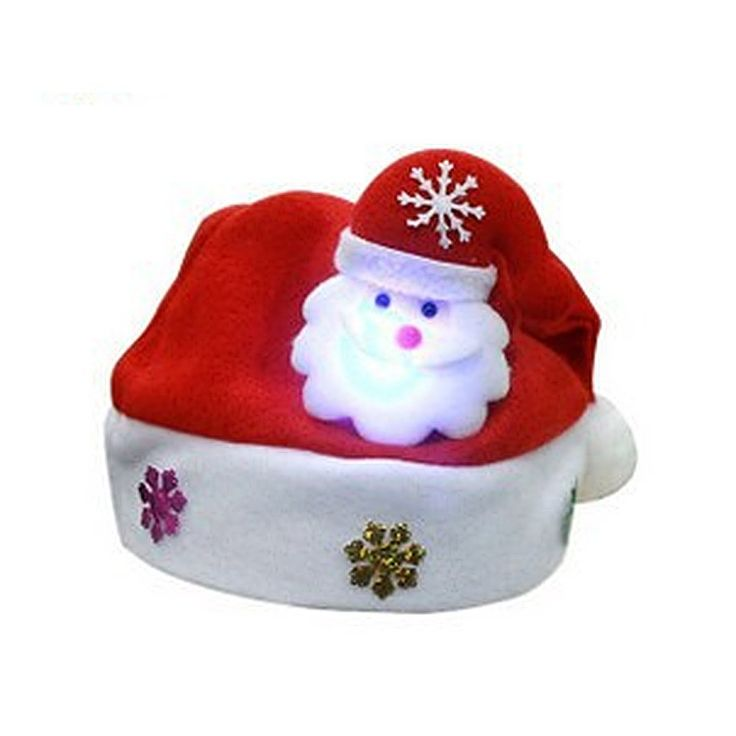 Jutao LED Light Christmas Traditional Cap Santa Claus Christmas Man Hat For Kids. Material: Flannel. Size: Width: 25cm/9.8 inch. Height: 30cm/11.8 inch. Soft comfortable fabric to protect your head and hair without irritation or sweat. Great For Holiday Costume Parties,novelty or festive occasions. Package:1 pc.