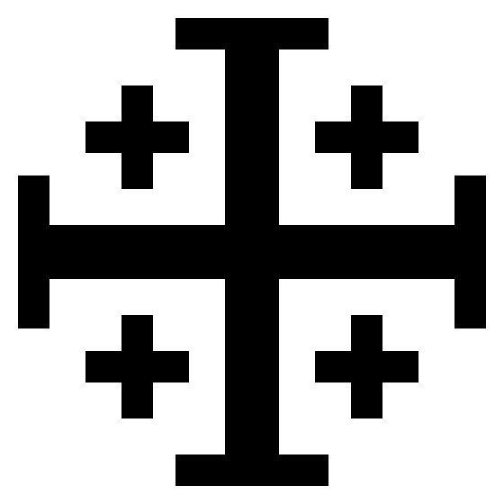 Cross-Jerusalem-Potent-Heraldry - Croix de Malte (symbole) —