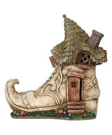 Loving this Solar Old Lady Shoe House Décor on #zulily! #zulilyfinds
