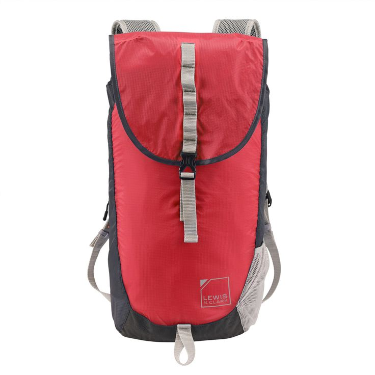 Lewis N. Clark ElectroLight Day Pack - Rfid Protected (Red/Charcoal), Red Sign