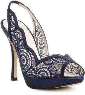 I love the navy blue color of these shoes & the lace is gorgeous.