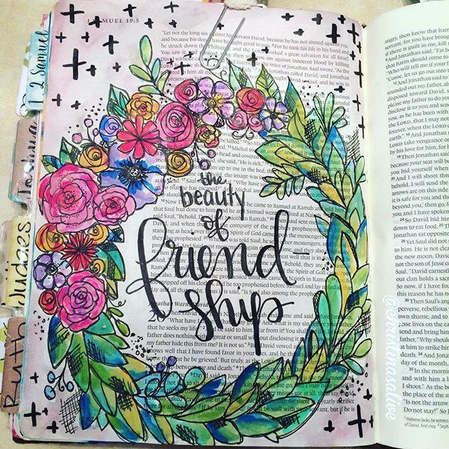Bible Journaling by Christina Lowery @christinasalive | 1 Samuel 19-20