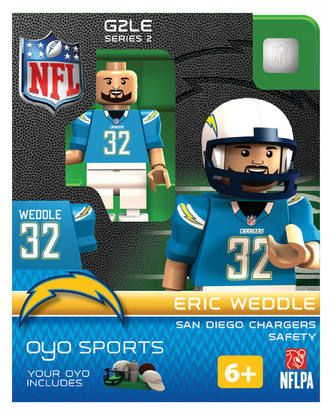 Los Angeles Chargers Eric Weddle Minifigure by Oyo Sports