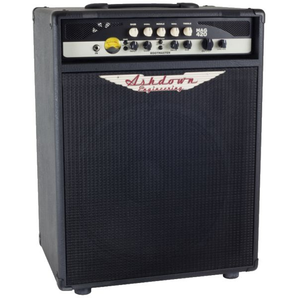 "Ashdown RM-MAG-C112 combo, ex demo. For players who dig the mid-range punch of a compact combo, the RM-MAG-C112-220 pairs a single 12"" Ashdown bass speaker with a powerful  220W solid state amp, creating a compact powerhouse combo loaded with Rootmaster tone-shaping features."