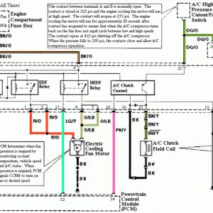 1994-1995 Mustang CCRM AC Wiring Diagram... | Ac wiring ...