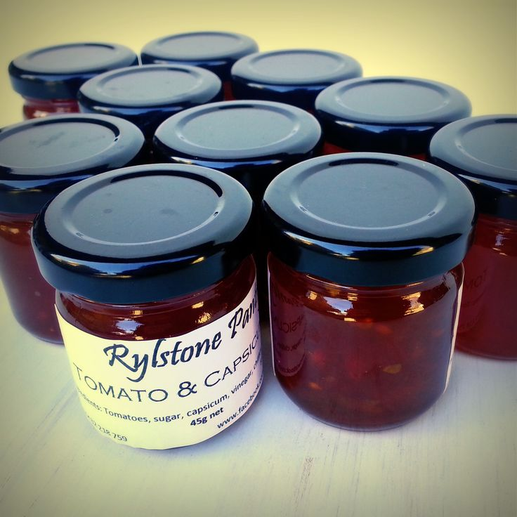 New to our hampers - delicious Tomato and Capsicum Jam from award-winning Rylstone Pantry... it's the perfect accompaniment to brie!