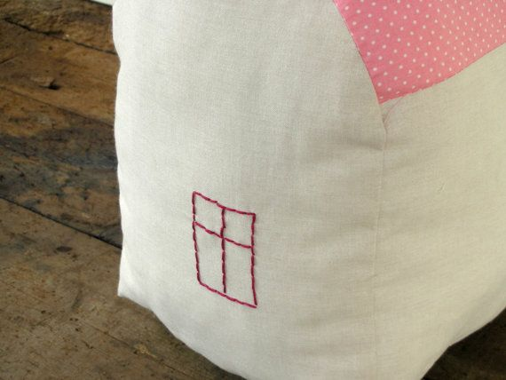 House Pillow  pink and pale by ConstructiveLaziness on Etsy, €20.00