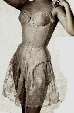 1955 torsolette with lace
