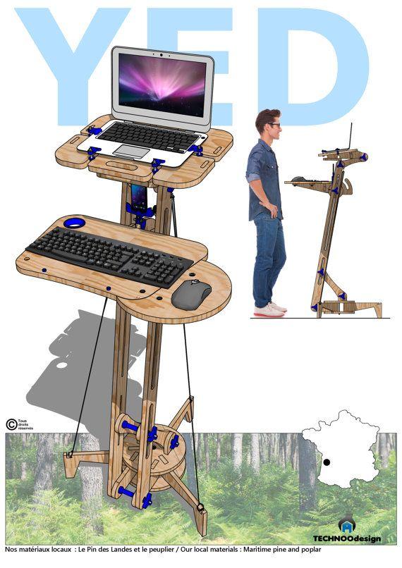17 meilleures id es propos de ergonomie bureau sur pinterest support d 39 ordinateur portable. Black Bedroom Furniture Sets. Home Design Ideas