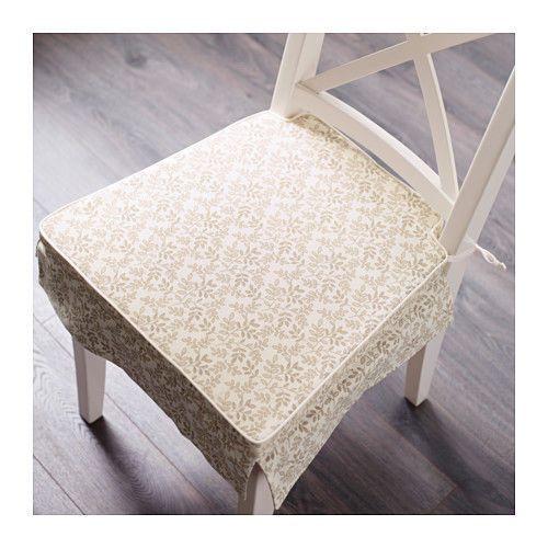 Ikea Elsebet Chair Pad Beige Indoor Outdoor Patio Kitchen Office Seat Cushion #IKEA