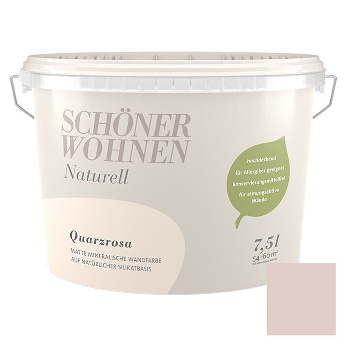 Schone Wohnwandfarbe Natur Quarzrosa 7 5 L Matt In 2020 Bauhaus Trash Can Canning