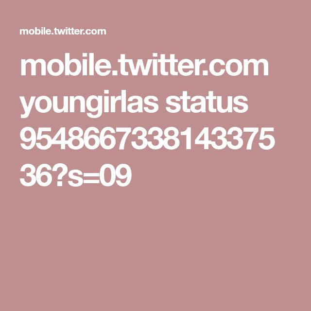 mobile.twitter.com youngirlas status 954866733814337536?s=09