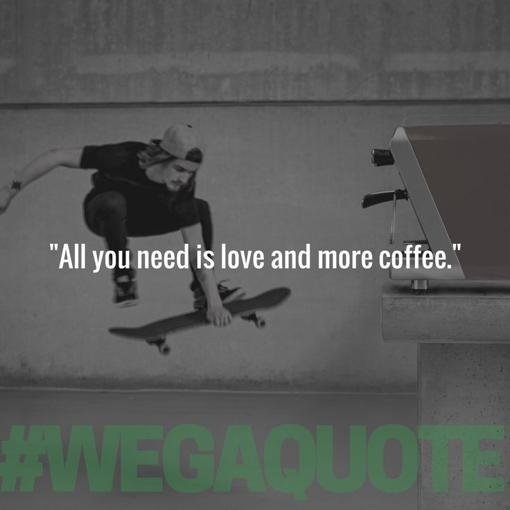 """""""All you need is love and more coffee.""""  #WegaQuote #TGIF #CoffeeQuote #CoffeeLovers #CoffeeForLiving"""