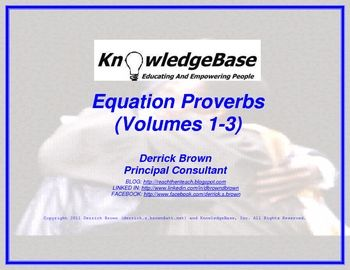 Equation Proverbs:  (Character Education Posters) (FREE DOWNLOAD)