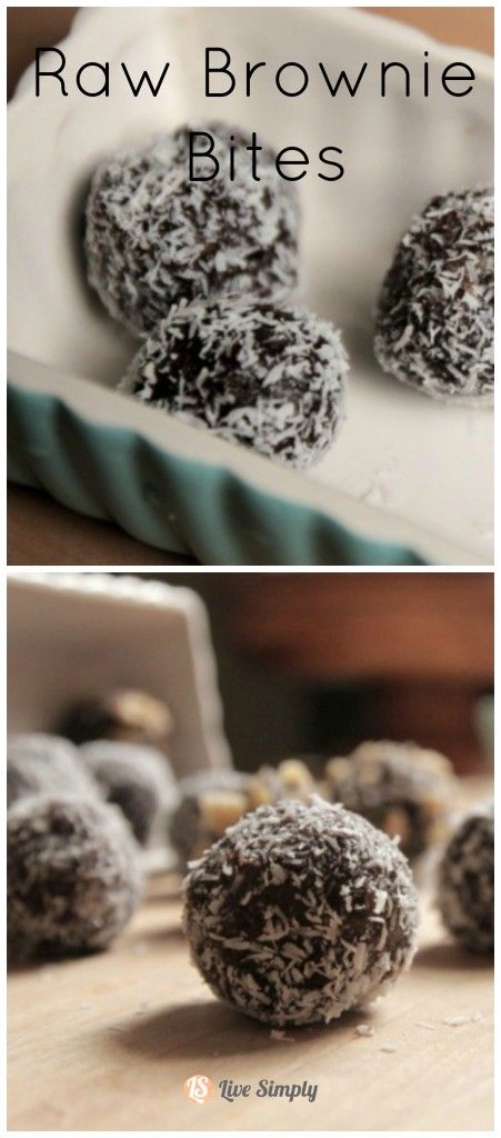 Raw Brownie Bites. Perfect dessert without the guilt! Naturally-sweetened chocolate treats.