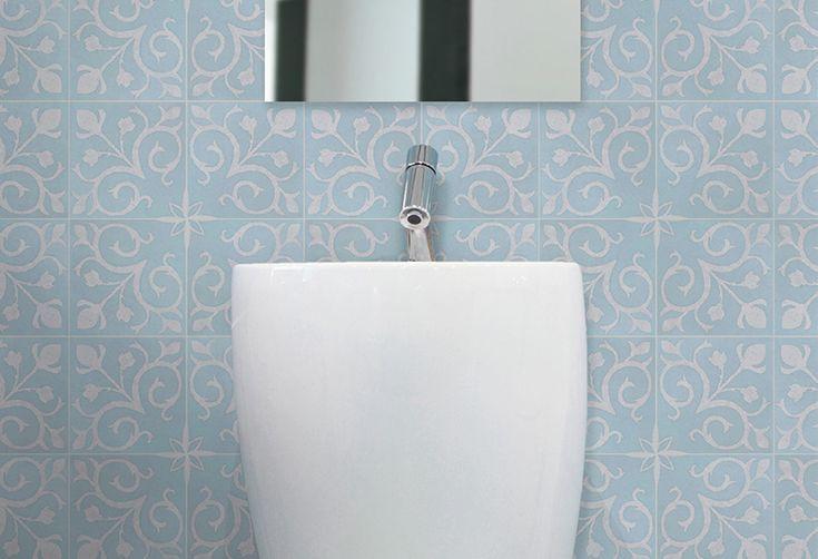 "Bathroom floor option 1 - Sky ""Vienna"" tile, Artisan range by Southern Cross Ceramics."