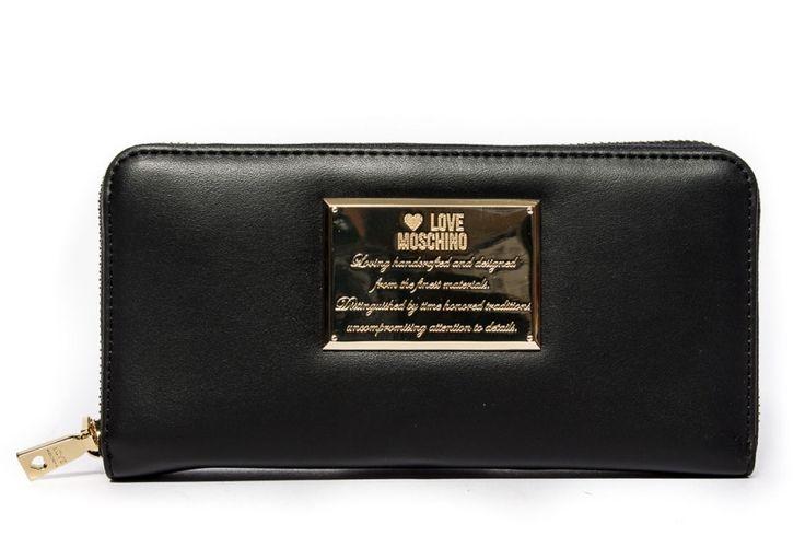 Moschino Love portafoglio donna nero con cerniera immagini