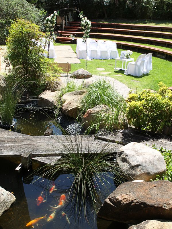 best outdoor wedding venues perth%0A Weddings at Perth Zoo  Japanese Gardens Ceremony Rockpool