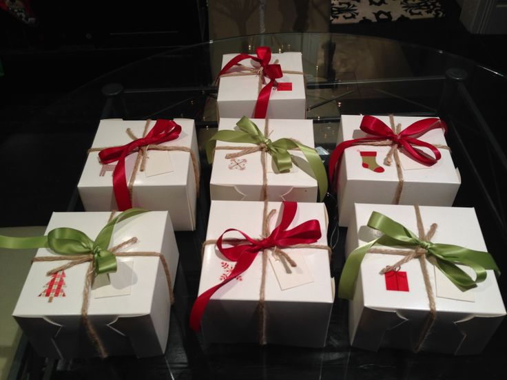 My mini Christmas cakes packaged up.