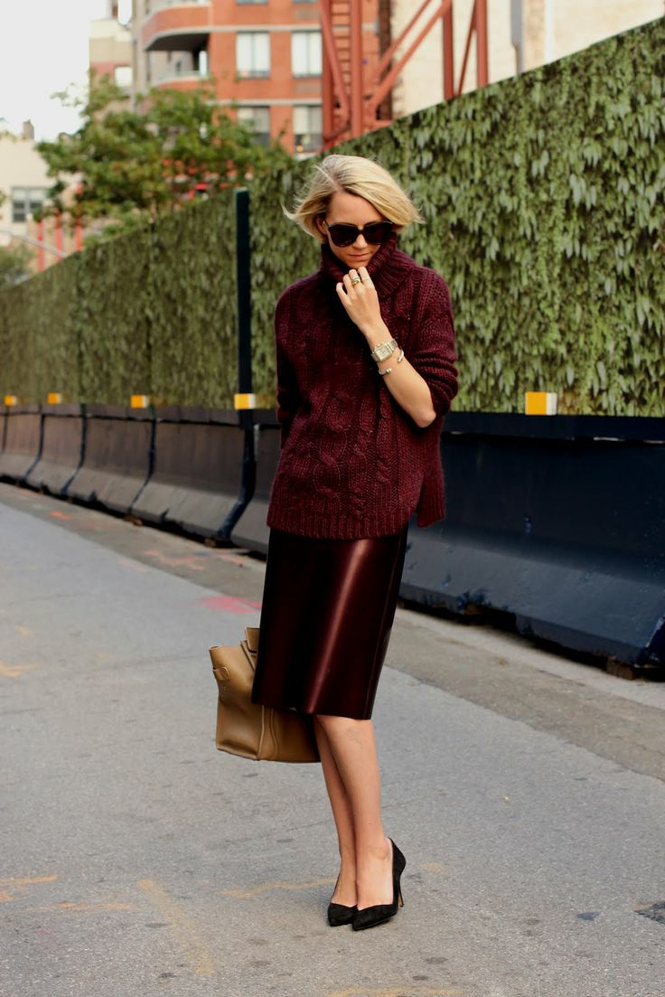 Swap your all black look for head-to-toe burgundy. Atlantic-Pacific in Burgundy on Burgundy: