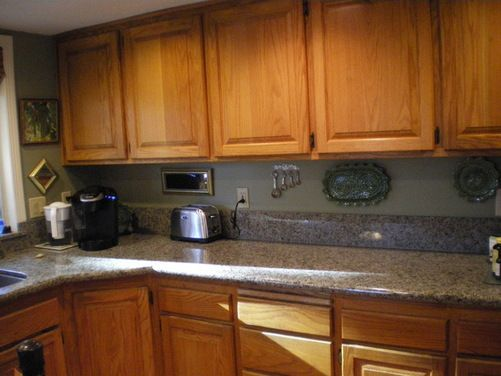 Best Gray Kitchen Walls With Brown Cabinets Gray Kitchen 640 x 480