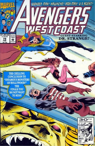 Avengers West Coast # 79 by Dave Ross & Tim Dzon