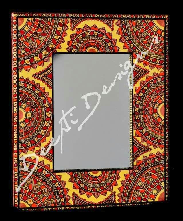 Madhubani photos frame hand painted 1