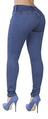 Curvify 764 Womens ButtLifting Skinny Jeans HighRise Waist Brazilian Style Indigo Washed 13 *** Learn more by visiting the image link. (Note:Amazon affiliate link)