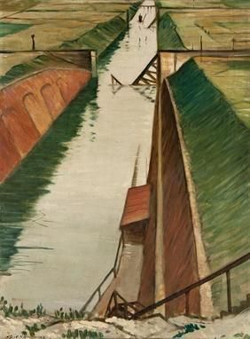 Destroyed Canal, Ypres by CRW Nevinson (1918)  #ww1