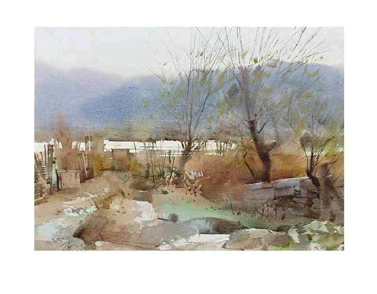 447 best images about landscape paintings on pinterest for Aquarelliste chinois