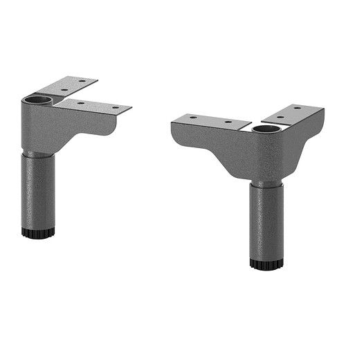 SILVERÅN Leg IKEA Adjustable feet for increased stability and protection against a wet floor.