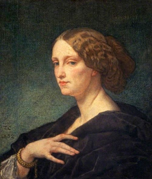 Thomas Couture- Portrait of a lady, 1852