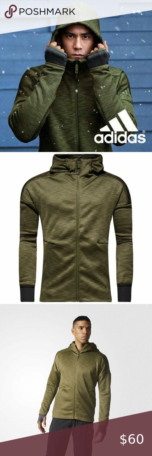Adidas Fz Z N E Climaheat Hoodie Olive Green Sz S Hoodies Sweatshirt Shirt Adidas Shirt [ 1740 x 580 Pixel ]