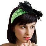 80's Lace Headband - Green