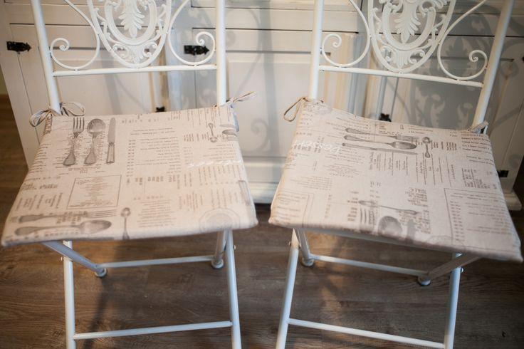 #owoceszycia Poduszki na krzesła 40/40 cm handmade, machine sewed.