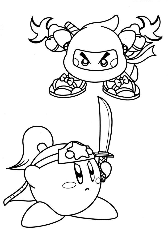 Ninja Kirby Coloring Pages 001 Star Coloring Pages Cartoon Coloring Pages Coloring Pages