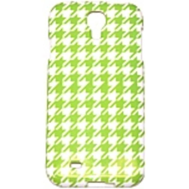 Couture 890968405760 Case for Samsung Galaxy S4 Smartphone - Green Houndstooth