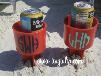 Spiker Beach Beverage Holder  Just Spike It  Add your cold drink, phone, suntan oil   We have to have these!!