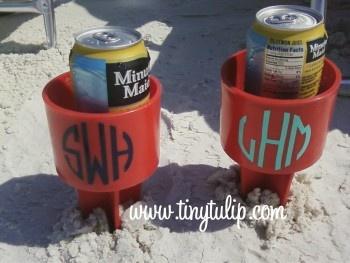 Spiker Beach Beverage Holder  Just Spike It  Add your cold drink, phone, suntan oil