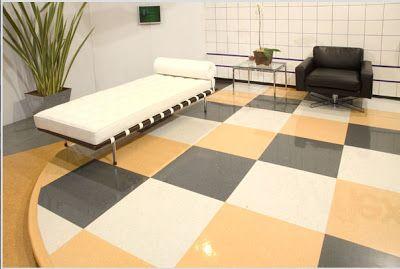 Paginação exclusiva com piso vinílico Paviflex de cores diferentes.