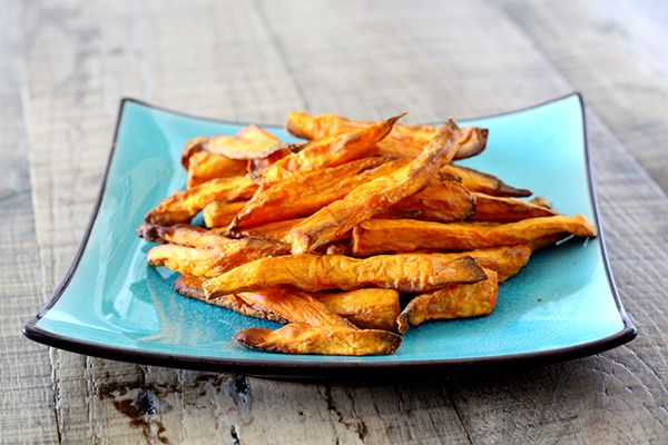 Sweet Potato Air Fries - Healthy sweet potato fries with about 1 Tbsp Olive Oil, Philips AirFryer Recipe