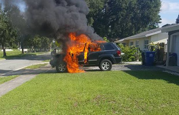Galaxy Note 7, cauza incendierii unui Jeep