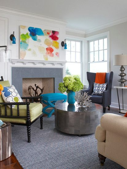 Rhode Island Beach House, Eclectic Family Room, Boston
