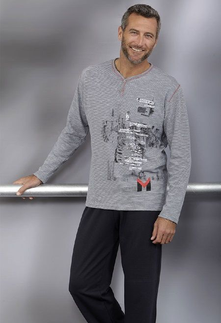 Pijama hombre invierno Massana gris