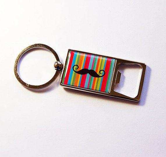 Porte-clé décapsuleur, moustache keyring, Rainbow, ouvreur de bouteille, décapsuleur porte-clés, porte-clés, porte-clés, ouvreur de bouteille de Soda (5151)