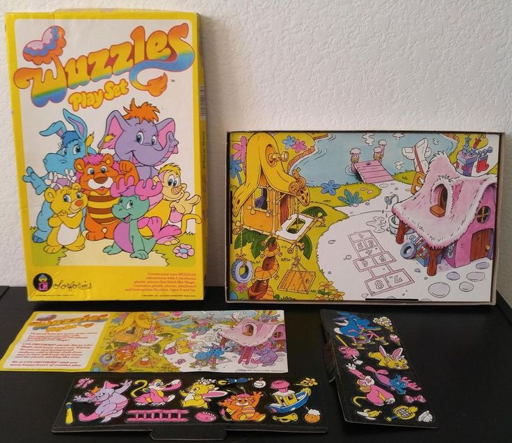 vintage wuzzles colorforms retro 80s girl toy disney hoppopotamus 1985 complete from $35.0