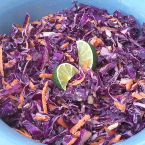 Lime & Peanut Coleslaw Recipe — Dishmaps