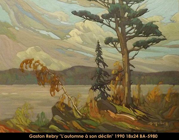 Original oil painting on canevas by Gaston Rebry #gastonrebry #art #fineart #figurativeart #artist #canadianartist #quebecartist #originalpainting #oilpainting #naturescene #landscape #fall #lake #balcondart #multiartltee