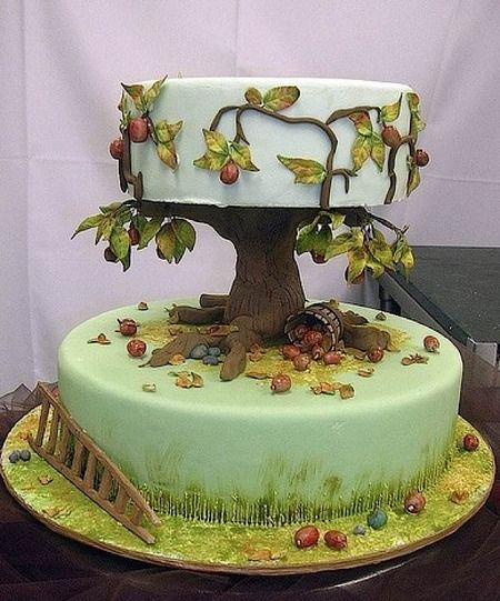 43 Best Images About Trees & Tree Stump Cakes On Pinterest