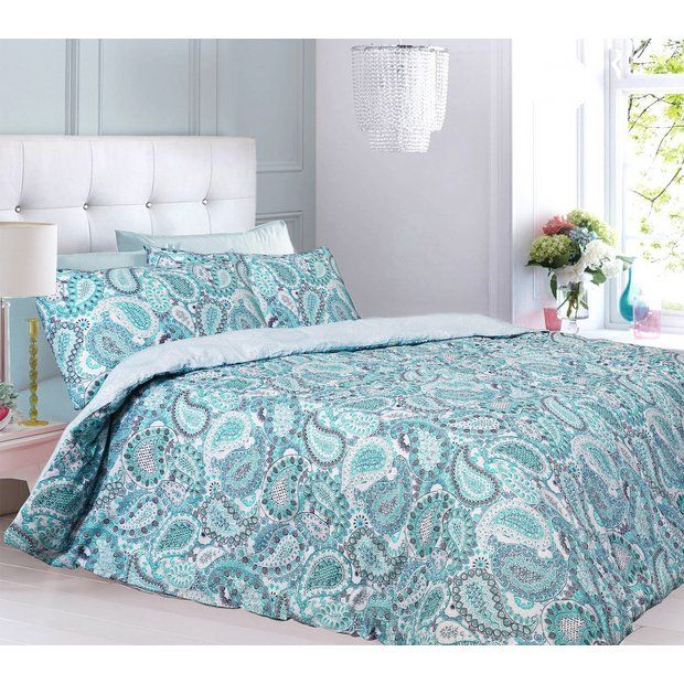 Buy Argos Home Aqua Paisley Bedding Set Single At Argos Thousands Of Products For Same Day Deliver Paisley Bedding Discount Bedding Sets Luxury Bedding Sets